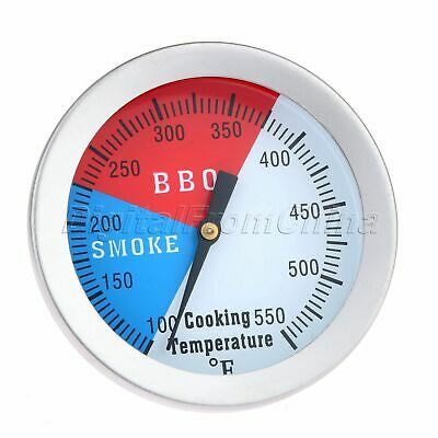100-550℉ BBQ Smoker Grill Thermometer Barbecue Temperature Gauge Stainless Steel