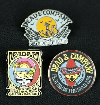 Dead And Company 2019 Mexico Pin Set Playing In The Sand