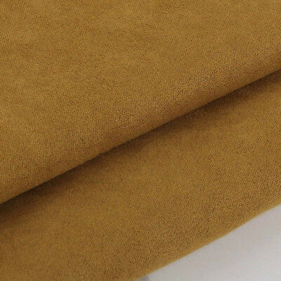 Upholstery Fabric Faux Cushion Chair Plain Dress Craft DIY Suedette Material