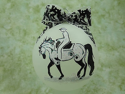rT018 Hand-made Christmas Ornament stylized HORSE tattoo -western pleasure arab