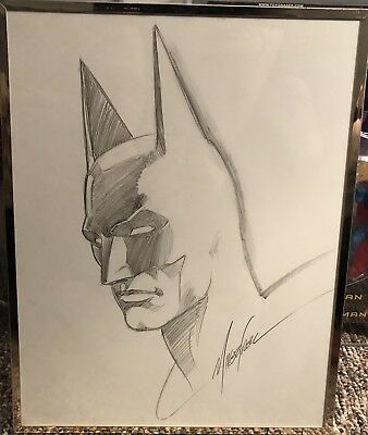 Original Art Commission By Mike Grell BATMAN 11x14 Sketch