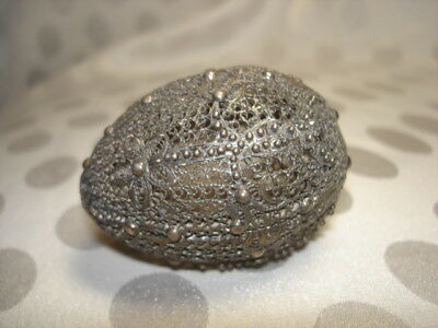 Rare Antique Russian 84 Solid Silver Egg Box