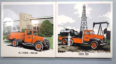 Dowell Oil Field Service Co 2 Hotplates showing old trucks.