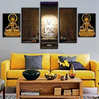 Buddha Compassion 5 Piece Canvas Art Wall Art Picture Painting Home Decor