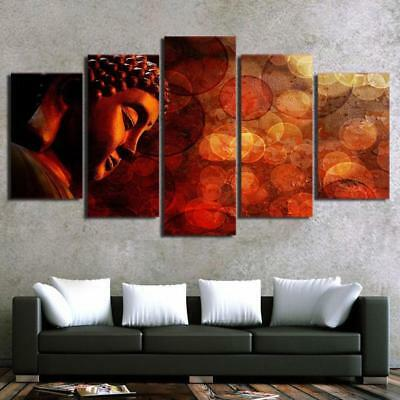 Buddha Enlightenment 5 Piece Canvas Art Wall Art Picture Painting Home Decor