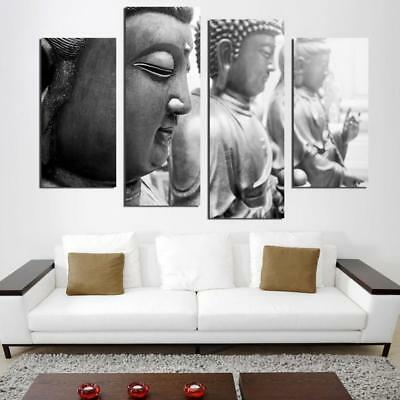 Old Staggered Buddha 4 Pieces Canvas Art Wall Art Picture Painting Home Decor