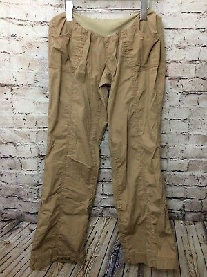76b1fd0a4af1b Oh Baby Maternity Womens Beige Tan Khaki Cargo Pants Size Small Stretchy  Pockets