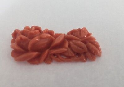 All Natural Vintage Hawaiian Angel Skin Coral from the 50-60's - Handcarved