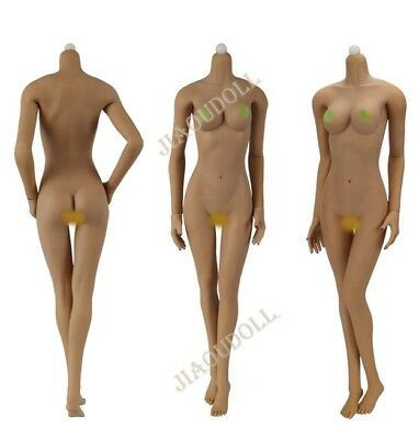 JIAOU DOLL Middle Bust Wheat Skin Female Body Model 1:6 Action Figure JOQ-06C-BS