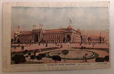 Antique Postcard 1904 Louisiana Purchase  Palace of Varied Industries Posted