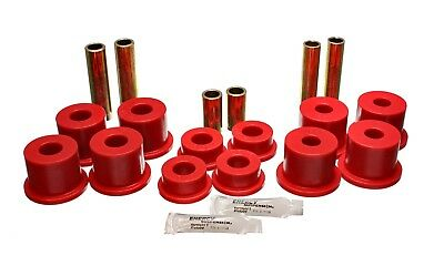 Energy Suspension 4.2142R Leaf Spring Bushing Set Fits 88-97 F Super Duty