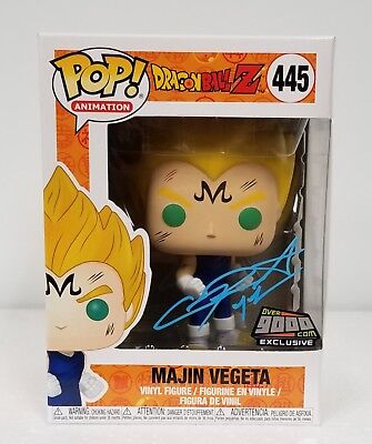 Funko Pop! Dragon Ball Z Majin Vegeta Over 9000.com NYCC Exclusive Signed Sabat