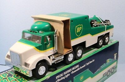 1994 BP Gas Formula 1 Race Car Carrier Truck w/ Working Lights - Limited Edition