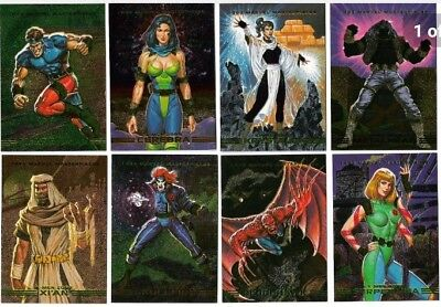1993 Marvel Masterpieces Spectra X-Men 2099 Dyna Etch Complete 1-8 Card Set