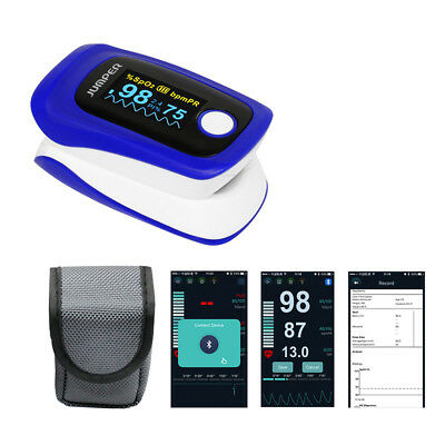 JUMPER JPD-500F Bluetooth Fingertip Pulse Oximeter with OLED Dispaly