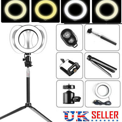 5 in1 LED 3 Modes 40W 5500K Dimmable Studio Camera Ring Light Photo Phone Video