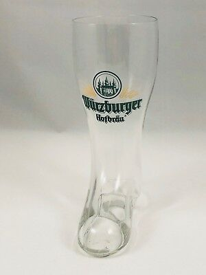 Wurzburger Hofbrau Glass Boot Made In West Germany Beer Glass .3 Liter