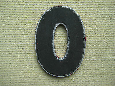 "Vintage/Antique Cast Metal Architectural ""O"" Letter Wagner Sign Service Co."