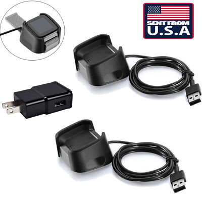USA 2X USB Charging Cable Charger Dock Cradle For Fitbit Versa Smart Watch ol