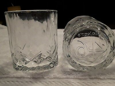 Makers Mark 46 Bourbon Whiskey pair of Unique Rock Glasses