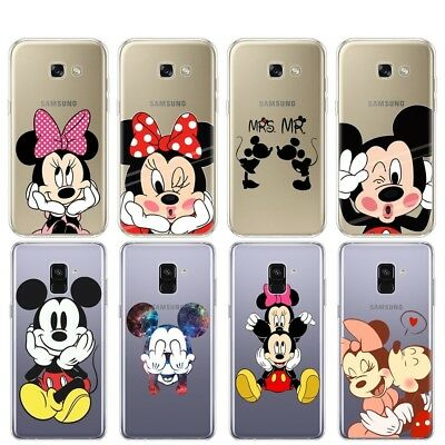 Disney Cartoon Minnie Mickey Soft Case Cover for Samsung Galaxy A3 A5 A8 A9 Plus