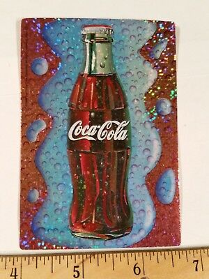 COCA-COLA--NEW--Vintage (1998) Licensed Prismatic Vending Machine Sticker (#10)