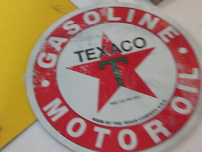 Estate Find Store Stock Gasoline Texaco Motor Oik Advertising Metal Sign