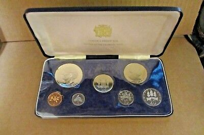 1972 Jamaica Proof Set With Box And Certificates - Sterling Silver $5