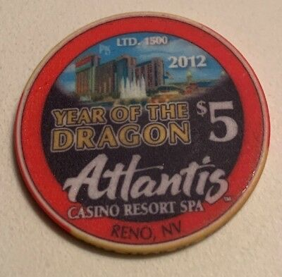 Atlantis Casino $5 Casino Chip Reno Nevada 2.99 Shipping