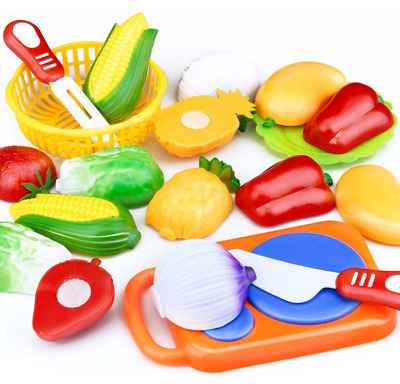 12Pcs Set Kids Kitchen Toy Plastic Fruit Vegetable Food Pretend Play Educational