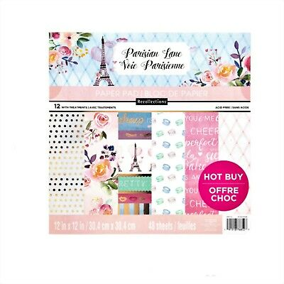 "Parisian Lane 12"" x 12"" Paper Pad by Recollections,Glamour,Poodle,,Scrapbooking"