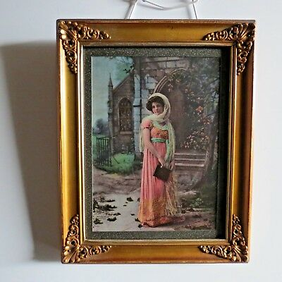 Antique colored Art Nouveau Photo gravure/Litho 1900 The Ullman Co New York