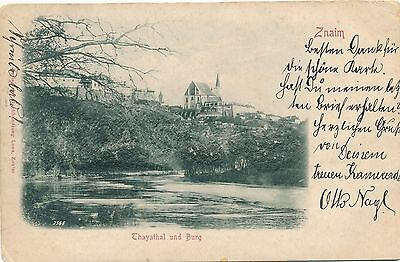 ZNOJMO – Thayathal und Burg Highly Embossed Postcatd – Znaim –Czech Republic–udb
