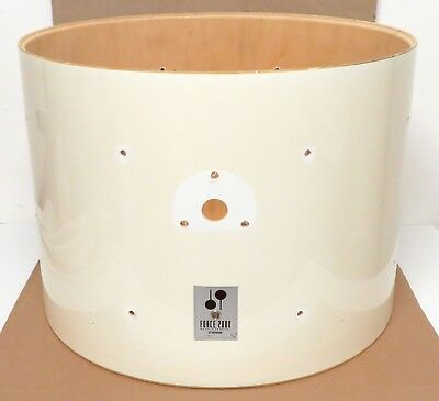 German Sonor Force 2000 22 x 16 Bass Drum Shell, Gloss White, Good Shape (90's)