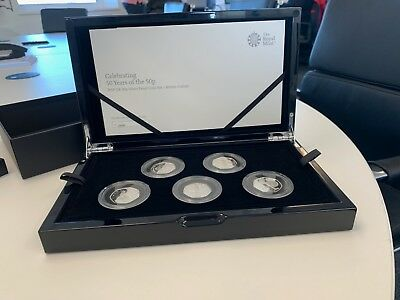 Celebrating 50 Years of the 50p 2019 UK 50p SILVER Proof Coin Set KEW - In Hand!
