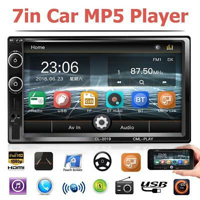 C700 7 Inch Car Stereo MP5 Player FM Radio TF U Disk Bluetooth Head Unit Black