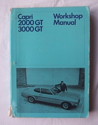 FORD CAPRI 2000GT AND 3000GT   1969 Workshop Manual.