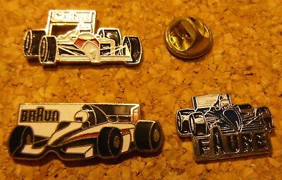 Pin's - Lot de 3 - Grand prix F1 - Marlboro - Braun - Faure -