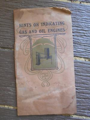 C 1909 Hints on Indicating Gas and Oil Engines Crosby Railway Maritime motors