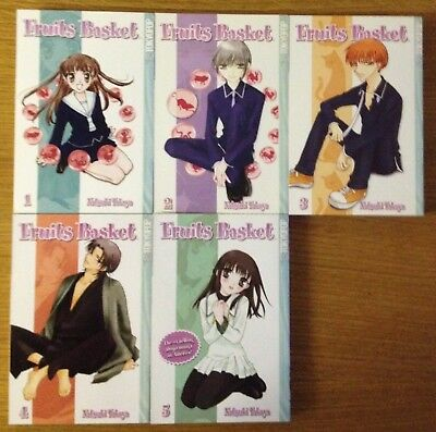 Fruits Basket Volumes 1 To 5 Manga