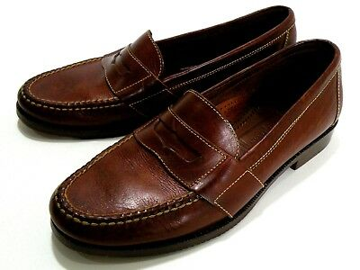 46a7dd5ebd4 Cole Haan 1462 Douglas Country Stitched Casual Moc Penny Loafers Men s Size  ...
