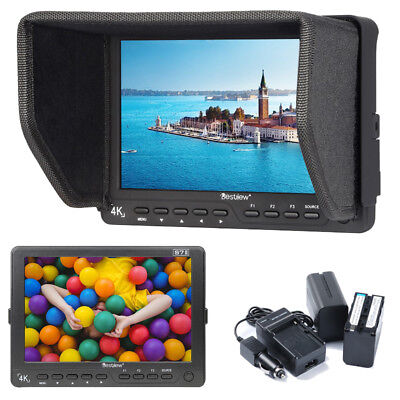 Bestview S7II 4K 7 Inch IPS 3G-SDI HDMI Video Camera Monitor+ 2x 6600mAh Battery
