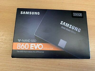 Samsung 860 Evo 500GB Internal 2.5 inch Solid State Drive SSD New and Sealed