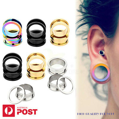 1-4pairs Ear Stretcher Tunnel Plug Surgical Steel Expander Piercing 2-30mm