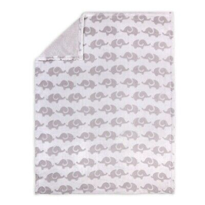 4Baby Burnout Blanket Elephant Grey