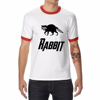 Rocket Raccoon Men's T-Shirt Funny Ringer  Cotton Short Sleeve for men tops tee