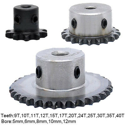 "#25 Chain Drive Sprocket Steel 9-40T 6~12 Pitch 6.35mm 1/4"" 04C Roller Sprocket"