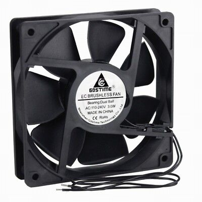 AC 110V 120V 220V 240V Ball Bearing 120mm 120x120x25mm Computer Case Cooling Fan