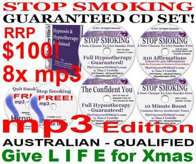 QUIT STOP SMOKING HYPNOTHERAPY SYSTEM FULL mp3 Edition of CD Set HYPNOSIS Easy