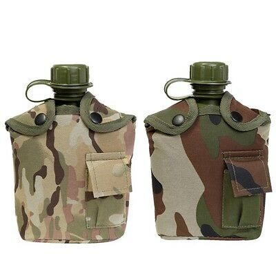 Kas Kids Army Camouflage Water Bottle 1L Boys Camping Water Canteen Mtp Camo